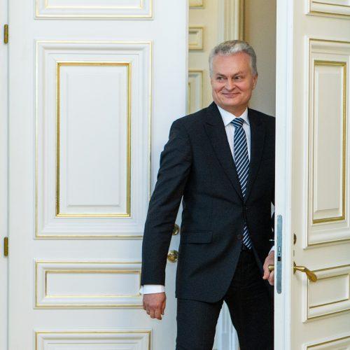 G. Nausėda susitiko su partijų vadovais  © P. Peleckio / Fotobanko nuotr.