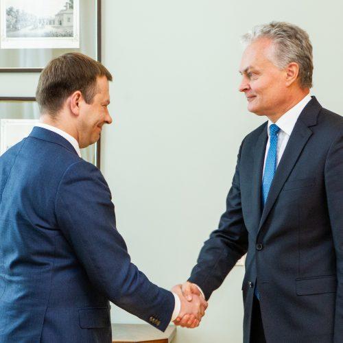 G. Nausėda susitiko su finansų ministru