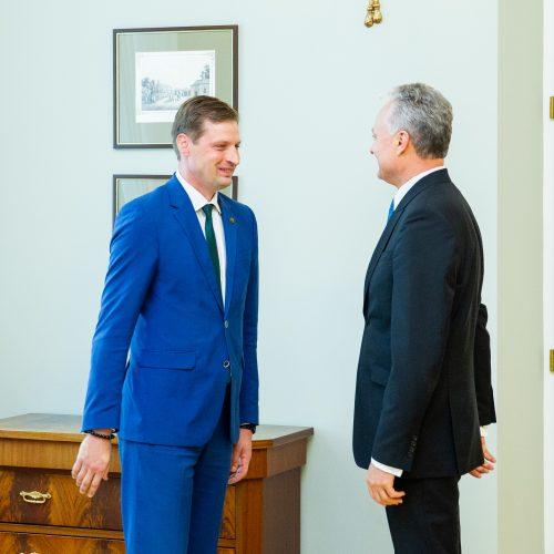 G. Nausėdos ir K. Mažeikos susitikimas  © I. Gelūno / Fotobanko nuotr.