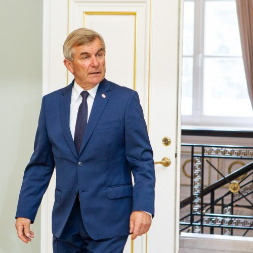 G. Nausėdos ir V. Pranckiečio susitikimas  © P. Peleckio / Fotobanko nuotr.