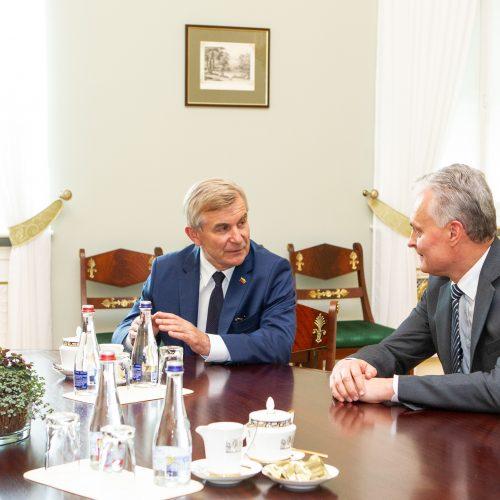 G. Nausėdos ir V. Pranckiečio susitikimas