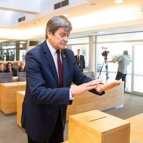 Slaptas balsavimas dėl V. Pranckiečio  © I. Gelūno / Fotobanko nuotr.
