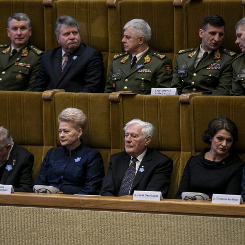 Laisvės gynėjų dienos minėjimas Seime  © P. Peleckio / Fotobanko nuotr.