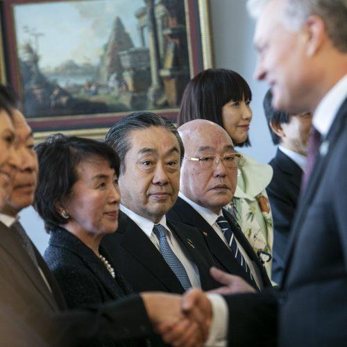 G. Nausėda susitiko su Japonijos delegacija  © P. Peleckio / Fotobanko nuotr.