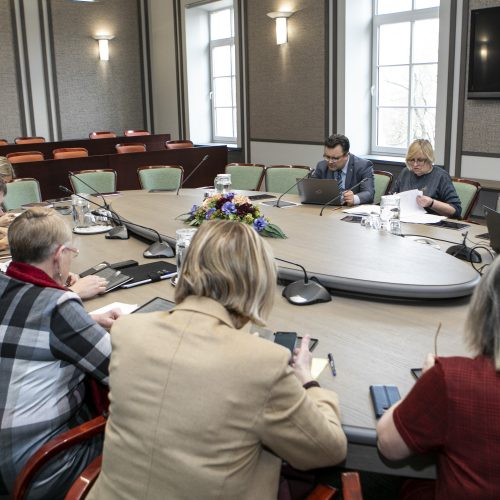 Susitikimas dėl kolektyvinės švietimo sutarties  © P. Peleckio / Fotobanko nuotr.