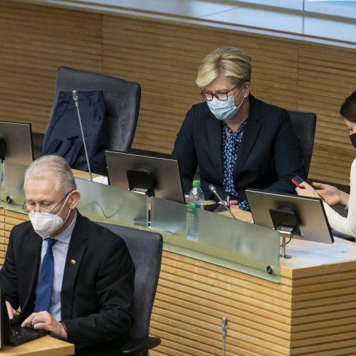 Seimo posėdis dėl premjero kandidatūros