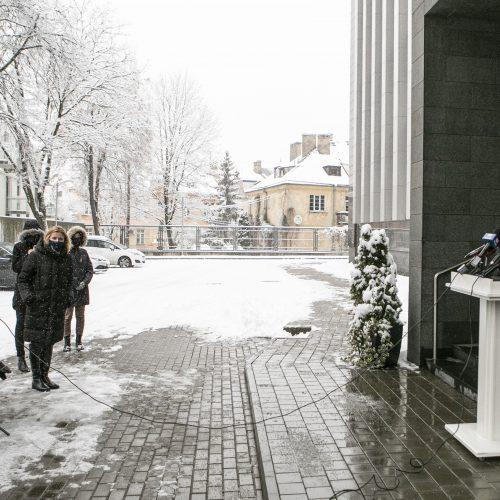 G. Landsbergis susitiko su S. Cichanouskaja  © P. Peleckio / Fotobanko nuotr.
