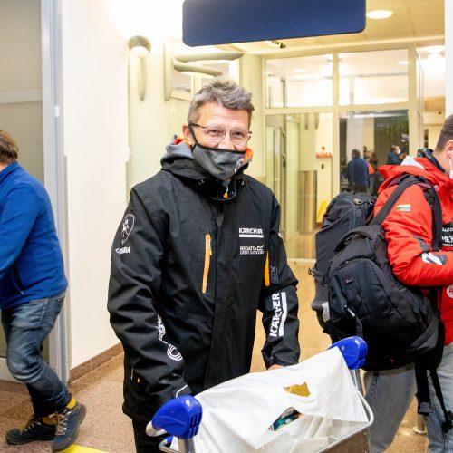 Vilniuje nusileido lėktuvas su Dakaro ralio dalyviais  © I. Gelūno / Fotobanko nuotr.