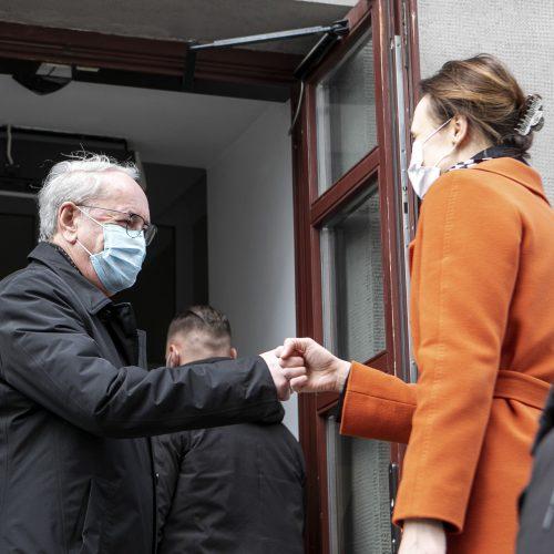 Skiepytis atvyko Seimo pirmininkė  © P. Peleckio / Fotobanko nuotr.