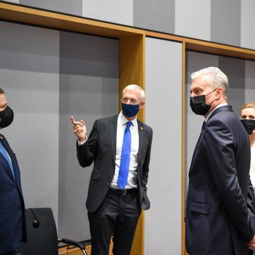 G. Nausėda susitinka su Šiaurės ir Baltijos šalių vadovais  © R. Dačkaus / Prezidentūros nuotr.