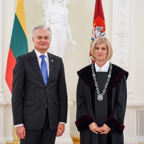 Prezidentas priėmė teisėjų priesaikas  © R. Dačkaus / Prezidentūros nuotr.