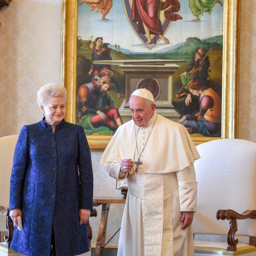 Prezidentė Vatikane susitiko su popiežiumi