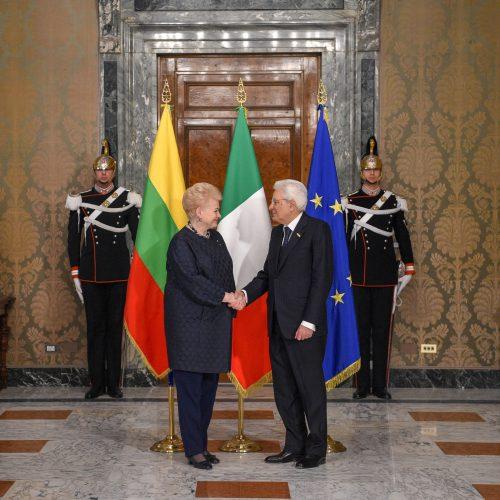 D. Grybauskaitę priėmė Italijos prezidentas