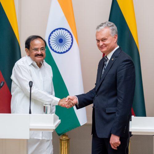 Lietuvoje vieši Indijos viceprezidentas