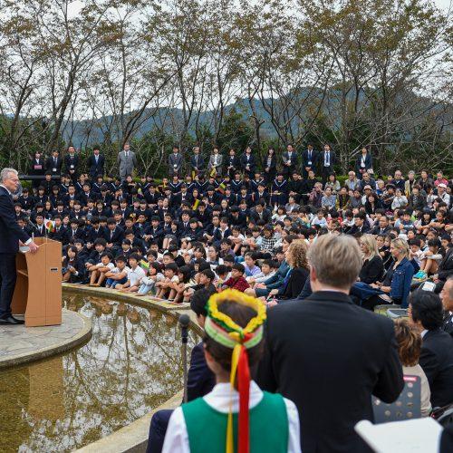 G. Nausėda pagerbė Č. Sugiharos atminimą  © R. Dačkaus / Prezidentūros nuotr.