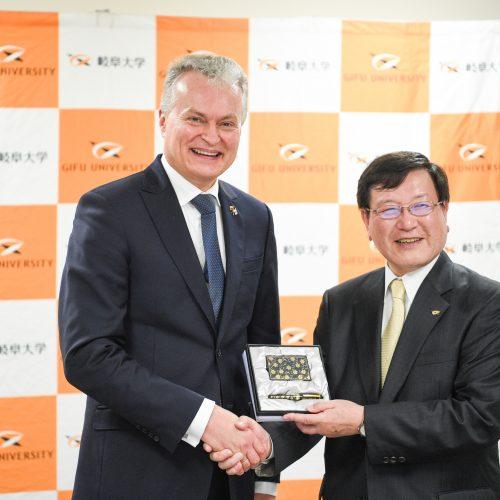 G. Nausėdai – Japonijos universiteto garbės daktaro laipsnis