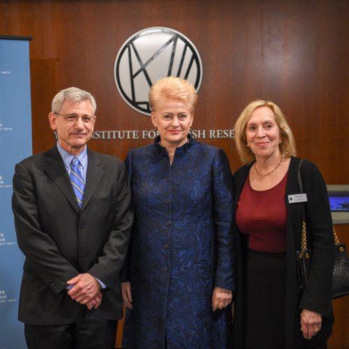 Prezidentė lankosi Judaikos tyrimų institute YIVO