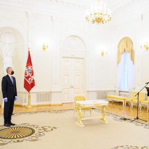 Prisiekė nauja generalinė prokurorė  © R. Dačkaus / Prezidentūros nuotr.