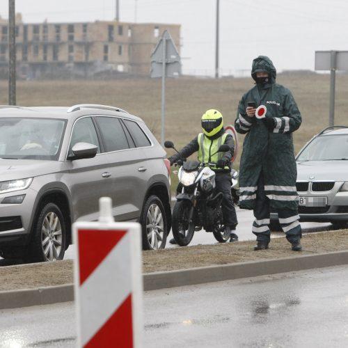 Klaipėdos policijos pareigūnai dirba postuose  © V. Liaudanskio nuotr.