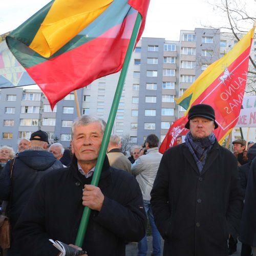 Protesto akcija prieš cenzūrą LRT  © D. Labučio / ELTOS nuotr.