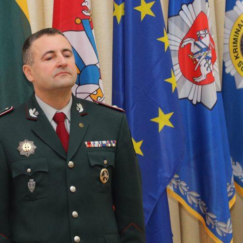 Policijos vadovo pareigas perima R. Požėla  © D. Labučio / ELTOS nuotr.