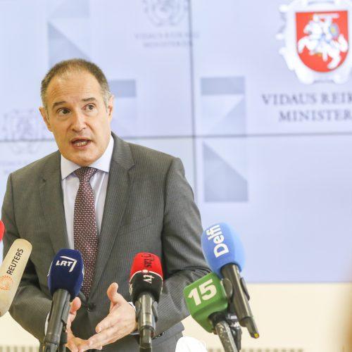 VRM spaudos konferencija dėl migrantų  © M. Morkevičiaus / ELTOS nuotr.