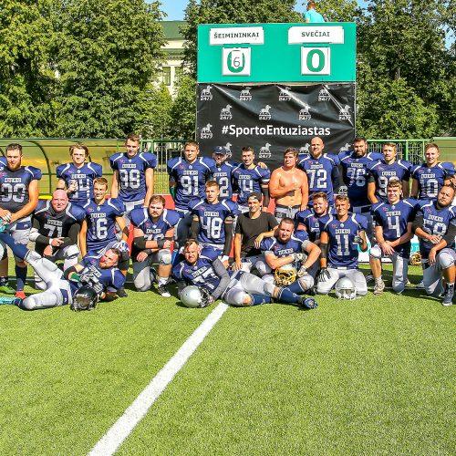 """Am. futbolas: """"Kaunas Dukes"""" – """"Tallinn Kings"""" 6:20  © Evaldo Šemioto nuotr."""