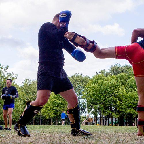 Atvira savigynos treniruotė Kalniečių parke