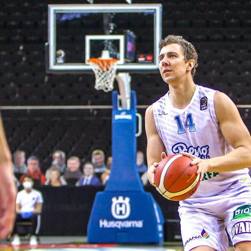 """KMT ketvirtfinalis: """"Žalgiris"""" – """"P. žvaigždės"""" 103:77  © Evaldo Šemioto nuotr."""