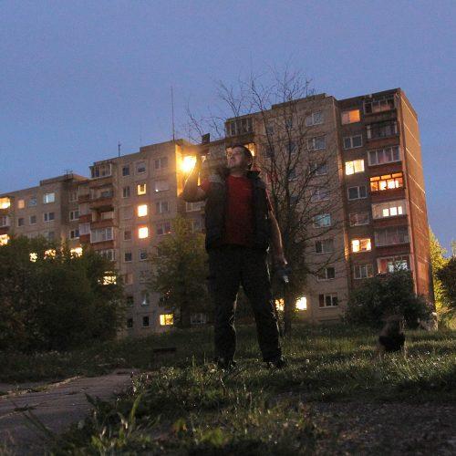 Sakartvelo fotografijos nakties projekcijos Eiguliuose  © Evaldo Šemioto nuotr.