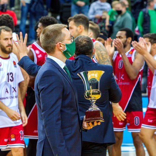 """""""We're Back"""" turnyras: """"Žalgiris"""" – """"Olimpia"""" 70:88  © Evaldo Šemioto nuotr."""