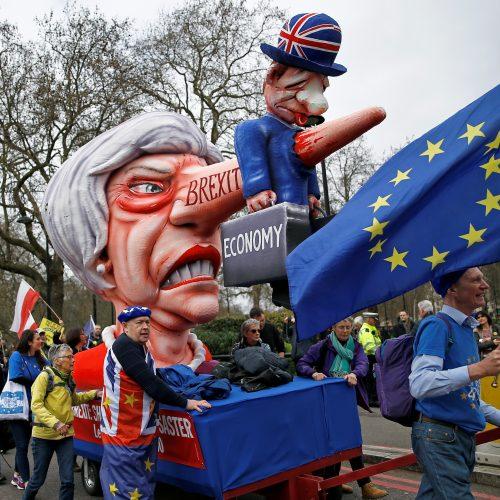 """Masinė demonstracija prieš """"Brexit"""""""