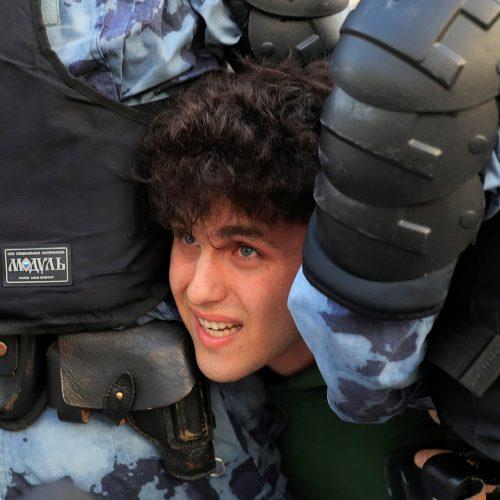 Protestuotojai Maskvoje  © Scanpix nuotr.