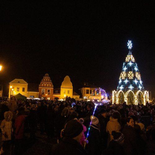 Kalėdų eglės Kėdainiuose įžiebimas