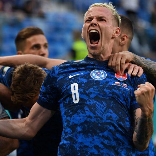 Europos futbolo čempionatas: Lenkija – Slovakija 1:2  © Scanpix nuotr.