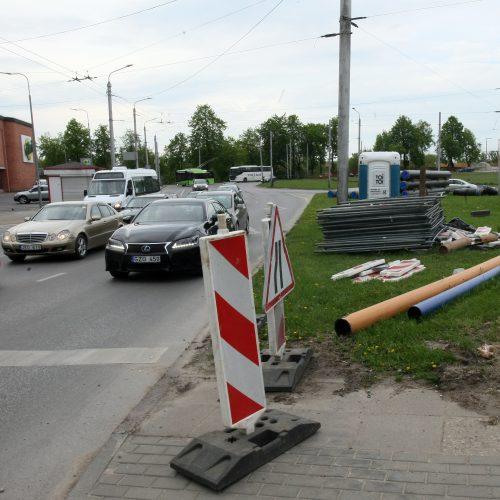 Kauno pilies žiedinė sankryža ruošiama rekonstrukcijai  © Laimučio Brundzos nuotr.