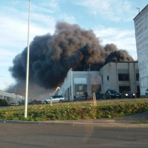 Milžiniškas gamyklos gaisras Alytuje