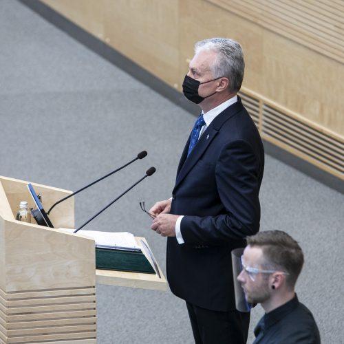 Prezidento G. Nausėdos antrasis metinis pranešimas  © P. Peleckio / Fotobanko, D. Labučio / ELTOS nuotr.