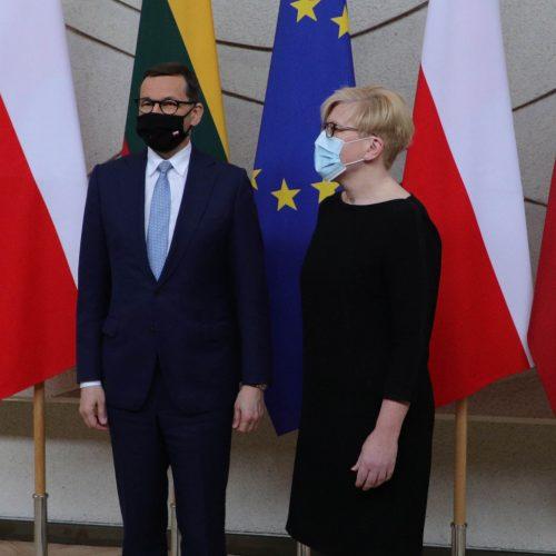 Lietuvoje vieši Lenkijos premjeras M. Morawieckis  ©