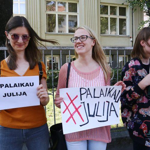 Akcija #PalaikauJulija  © Aliaus Koroliovo nuotr.