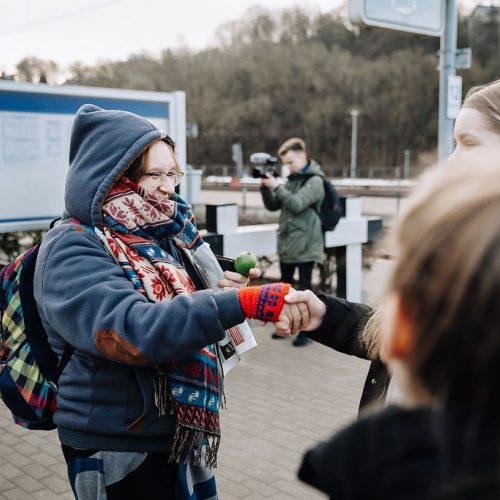Laimės dieną Kaune – ypatingos dovanos ir šypsenos  © KEKS nuotr.