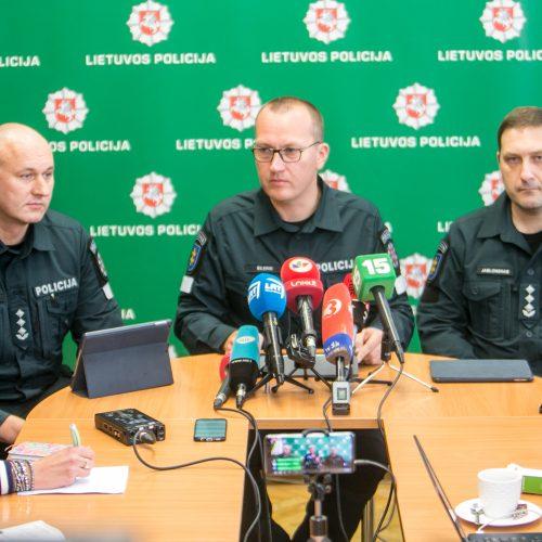 Spaudos konferencija dėl korupcijos skandalo Kauno policijoje