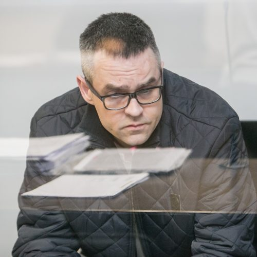 Įtariamų D. Bugavičiaus žudikų teismas  © Vilmanto Raupelio nuotr.