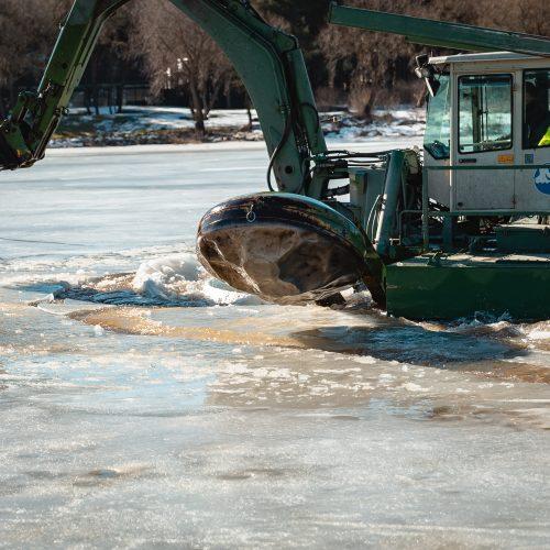 Fotoreportažas iš Radikių: ar gyventojai ruošiasi potvyniui?  © Eitvydo Kinaičio nuotr.