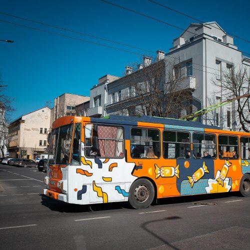 Neatpažįstamai pasikeitę senieji Kauno troleibusai  © Kauno miesto savivaldybės nuotr.
