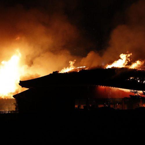 Japonijoje sudegė į Pasaulio paveldo sąrašą įtraukta pilis  © Scanpix nuotr.