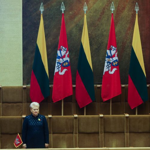 Kovo 11-osios minėjimas Seime <span style=color:red;>(2019)</span>  © Irmanto Gelūno / Fotobanko, Dainiaus Labučio (ELTA) nuotr.
