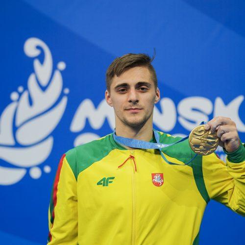 Gimnastas R.Tvorogalas Europos žaidynėse iškovojo auksą