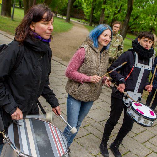 Bendruomenių pilietinio nepasitenkinimo akcija Kaune  © Laimio Steponavičiaus nuotr.