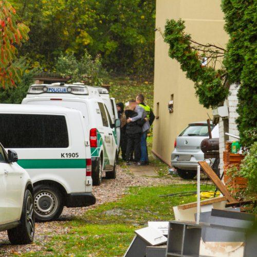Krata policijos sulaikyto BMW vairuotojo namuose